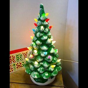 Ceramic Lighted Christmas Tree 🎄